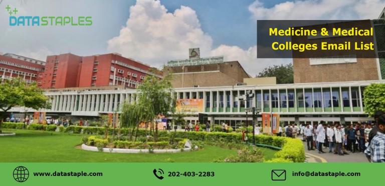 Medicine and Medical Colleges Mailing List | DataStaples