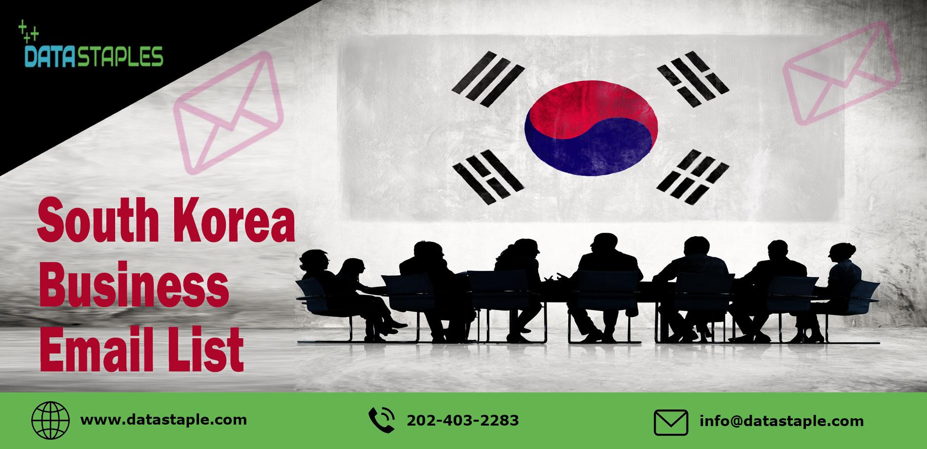 South Korea Business Email List | DataStaples
