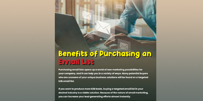 Benefits Of Purchasing Email List | DataStaples