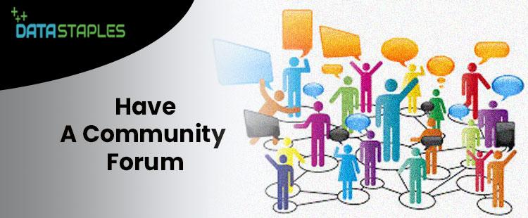 Have A Community Forum | DataStaples